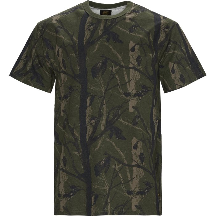 S/S Military Tee - T-shirts - Regular - Grøn